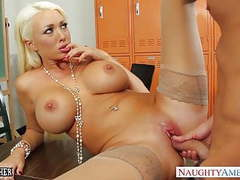 Busty blonde teacher summer brielle gets facialized movies at freekilosex.com