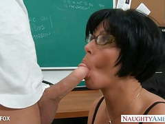 Milf in glasses shay fox fuck in class tubes