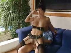 Beautiful italian mature in stockings gets nailed clip