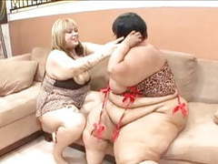 Busty black whores sit on the couch and play with their tight wet pussies movies at freekiloporn.com