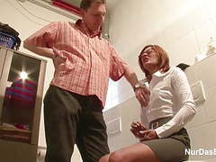 German milf seduce to fuck by younger man on work movies at relaxxx.net