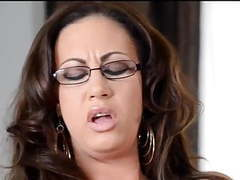 Busty mature with glasses toys her shaved twat movies at kilovideos.com