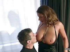 German milf with monster natural tits seduce to fuck on work movies at kilovideos.com