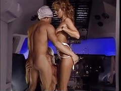 Arab meet two hot stewardess and fuck both of them while in  air planes movies at freekilomovies.com