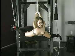 Slave gets rope around wrists nipples clamped and ball gag in her mouth videos