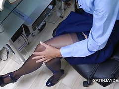 Student masturbation in nylons & panties movies at freekiloclips.com