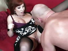 Big boobed redhead fucking in thigh high nylons videos