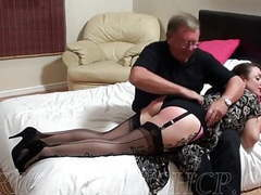 Milf wearing nylons gets spanked movies at kilogirls.com
