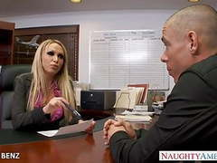 Stockinged office babe nikki benz fuck tubes