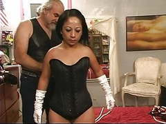 A little latina milf gets freaky with rope on the bed videos