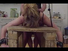 At the bench-little sunshine milf fucked, spanked and pluged videos