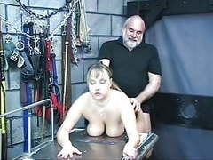 Busty slave sucks her master's cock in the torture room movies at nastyadult.info