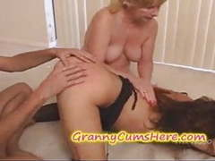 Granny spanks and eats young pussy videos