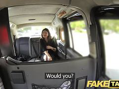 Fake taxi big facial cum shot for brunette in stockings videos