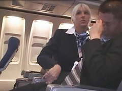 Hot handjob from sexy stewardess movies at freekilosex.com