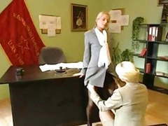 Blonde office lesbians movies at kilopills.com