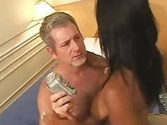 Horny old man fucks a gorgeous brazilian girl videos