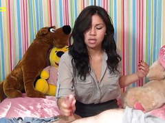 Latina teen gives first handjob videos