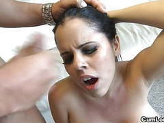 Busty diamond kitty takes a load of cum over her lush face movies at find-best-hardcore.com