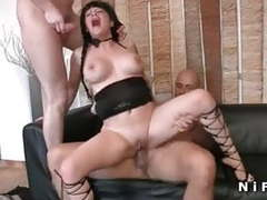 Big boobed french mom hard anal fucked and double penetrated videos