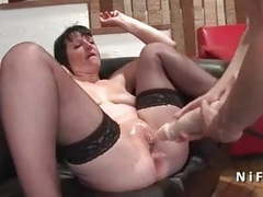 French mature hard anal nailed and double fist fucked movies