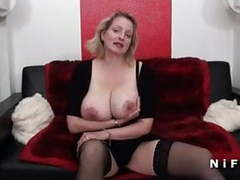 Bbw french milf with huge boobs double teamed videos