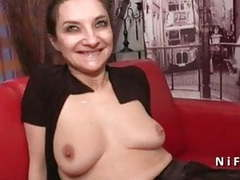 French mature hard analized and dp in a gangbang movies at freekilosex.com