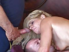 Milf wife gets all holes owned tubes