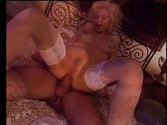 Hot italian girl loves the feeling of double penetration tubes