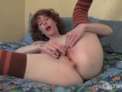 Pierced and tattooed staci fingering her pussy movies