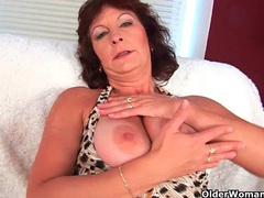 Granny with big tits finger fucks her hairy pussy movies at find-best-babes.com