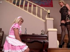 Mistress and her french maid in kinky play videos