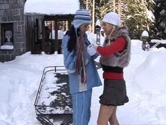 Busty lesbian yvone plays with a lesbian videos