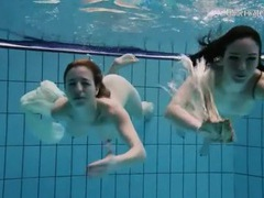 Nearly naked girls go swimming in the pool movies