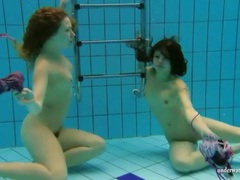 Teens go for a swim in the deep pool movies at find-best-tits.com