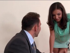 Secretary tease in short skirt wants her pussy licked movies at lingerie-mania.com