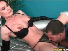 Kissing and licking classy slut in leather gloves movies at find-best-lesbians.com