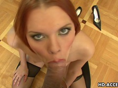 Hot blowjob from redhead masha videos