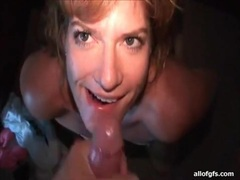 Facial cumshot compilation with his sexy wife movies at lingerie-mania.com