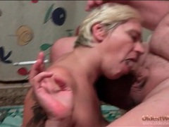 Fat guy smoking and blown by a mature blonde movies at find-best-pussy.com