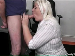 Sexy bbw blowjob from his secretary videos