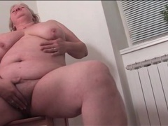Horny fat housewife naked in her kitchen videos