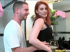 Redhead raina undressed in bathroom movies at adspics.com