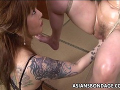 Asian bondage babe is fisted tubes at chinese.sgirls.net