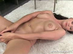 Thick dildo pleasures pussy of brunette slut movies at freekilopics.com