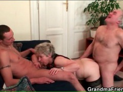 Husband and wife fuck young guy in threesome videos