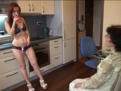Young chick in sexy panties strapon fucks grandma movies at adipics.com