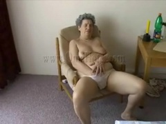 Granny stuffs plunger into her pussy movies at sgirls.net