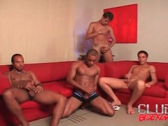 Latin guys suck cock in hot orgy videos
