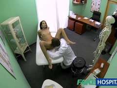 Fakehospital slim skinny young student cums in for check up gets the doctors creampie videos